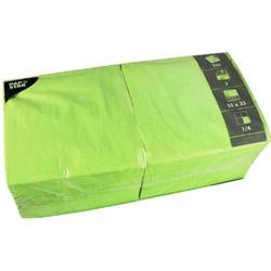 Servietten 33x33cm 3-lagig 1/4-Falz VE=250 Stück apfelgrün