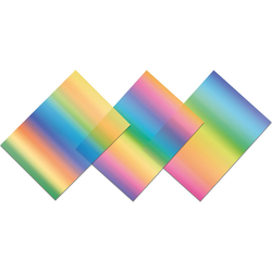 URSUS Dekorationsfolie Regenbogen-Fensterfolie 23X33cm,3 Blatt