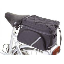 Fahrrad Gepäckträgertasche - multifunktionell, schwarz