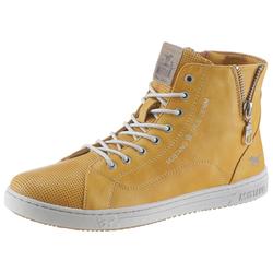 Mustang Shoes Schnürboots mit knöchelhohem Design gelb 38