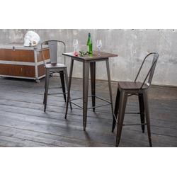 KAWOLA Beistelltisch VILDA, Bartisch Holz/Metall