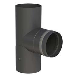 Ø 80 mm Pelletofenrohr T-Stück 90° mit Revisionsöffnung und Einzug Sch