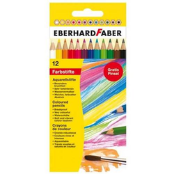 Aquarellstift Buntstift VE=12 Farben + Pinsel