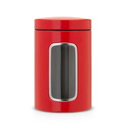 Brabantia Aufbewahrungsdose mit Fenster 1.4 L Passions-Rot