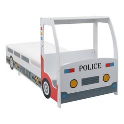 vidaXL Kinderbett vidaXL Polizeiauto-Kinderbett mit Memory-Schaum-Matratze 90×200 cm