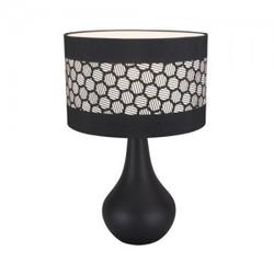 Tischlampe Keramik bei Nacht Lampe Keramik WANDA E14 schwarz 8045