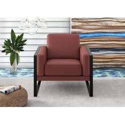 machalke® Loungesessel frame, Ledersessel mit Kufe in Schwarz rot