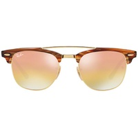 Ray Ban Clubmaster RB3816 brown havana-gold / gold gradient green