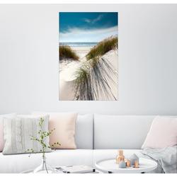 Posterlounge Wandbild, Volle Pracht - Düne mit Strandhafer 20 cm x 30 cm