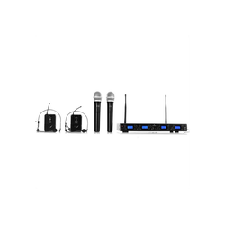 Auna Mikrofon UHF-550 Quartett3 4-Kanal UHF-Funkmikrofon-Set (Set)