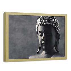 HomeLiving Bild mit Rahmen Buddha-Statue, Motiv siehe Bild/Beschreibung
