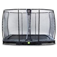 EXIT TOYS Elegant Premium Inground-Trampolin 244 x 427 cm inkl. Deluxe Sicherheitsnetz schwarz