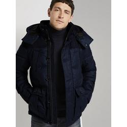 TOM TAILOR Winterjacke Gesteppte Winterjacke mit Kapuze blau M