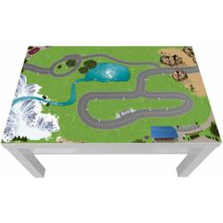 STIKKIPIX Möbelfolie LCK13, (MÖBEL NICHT INKLUSIVE) Eisenbahn/Holzeisenbahn Möbelfolie/Aufkleber - passgenau für den Lack Couchtisch (90 x 55 cm) von IKEA - In wenigen Minuten zum einzigartigen Spieltisch für Kinder!