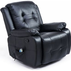 HOMCOM Massagesessel mit Wärmefunktion 94 x 95 x 103 cm (LxBxH)   TV Sessel Fernsehsessel Relaxsessel Massagestuhl