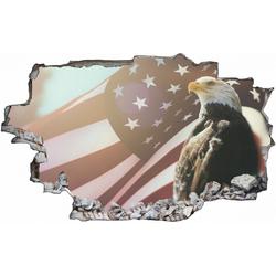 DesFoli Wandtattoo Adler USA Fahne Amerika C1037 150 cm x 100 cm