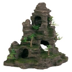 TRIXIE Aquariendeko Aquarium Felsen Höhle und Pflanzen