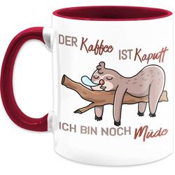 Shirtracer Tasse Der Kaffee ist kaputt - Tasse mit Spruch - Tasse zweifarbig, Keramik