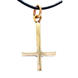 Kiss of Leather Kettenanhänger umgedrehtes Kreuz Petruskreuz umgekehrtes Satan Anhänger Bronze