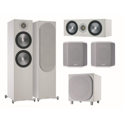 MONITOR AUDIO Bronze 6G Cinema 500 weiß/grau Lautsprecher-Set 5.1 5.1 Soundsystem (5.1 Heimkino Set)