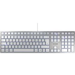 CHERRY KC6000 Slim USB Tastatur Englisch, QWERTY Silber