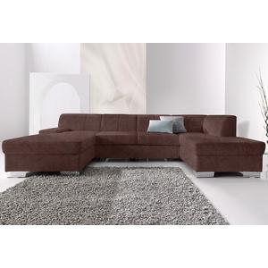 DOMO collection Wohnlandschaft Star, wahlweise mit Bettfunktion braun Wohnlandschaften Sofas Couches