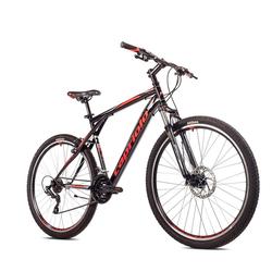 breluxx Mountainbike 29 Zoll Mountainbike Hardtail FS Disk Adrenalin Sport schwarz, FS + Scheibenbremsen, 21 Gang Shimano Tourney Schaltwerk, Kettenschaltung