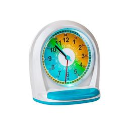 ONVAYA Uhr Kinderwecker ohne Ticken für Jungen und Mädchen, Quarzwecker mit Licht und Schlummerfunktion, Analoger Lernwecker mit großen Zahlen