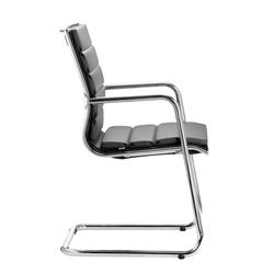 LD Seating PLUTO Freischwinger Konferenzstuhl gepolstert schwarz