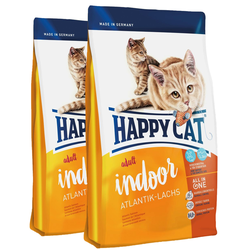 HAPPY CAT Indoor Adult Atlantik-Lachs 20 kg (2 x 10 kg)