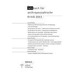 Jahrbuch für Anthroposophische Kritik 2003 - Buch