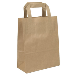 KK Verpackungen Tragetasche (500-tlg), Papiertragetaschen Papiertüten Papiertaschen Tragetaschen 18 +8 x 22 cm 18 cm x 22 cm x 8 cm