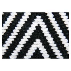 Teppich, Pro Home, eckig, Teppich aus 100% Baumwolle, Baumwollteppich Black & White schwarz 50 cm x 80 cm