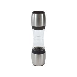 ILSA Salz-/Pfeffermühle, Salz- & Pfeffermühle aus Acryl/Edelstahl mit Keramikmahlwerk 23 cm