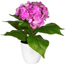 Künstliche Zimmerpflanze Leana Hortensie, my home, Höhe 40 cm rosa