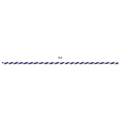 Kordel   2 mm x 50 m, blau/weiß