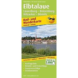 PUBLICPRESS Rad- und Wanderkarte Elbtalaue  Lauenburg - Boizenburg  Hitzacker - Dömitz - Buch