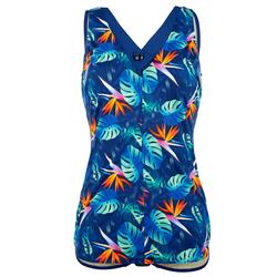 Badeanzug Maritim Blau/Grün/Orange