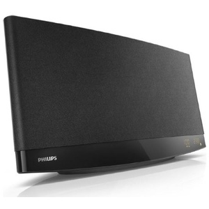 Philips MCM2250/12 Mini Stereoanlage mit CD/MP3-Wiedergabe (20 W RMS, USB Direct, Bassreflex, Wandmontage), schwarz