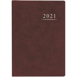 Terminbuch A4 21x29,5cm 1 Tag/1 Seite weinrot Kalendarium 2021