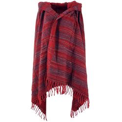 Guru-Shop Halstuch Weicher Goa Schal, großes Schultertuch,.. rot