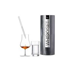 Eisch Whiskyglas Gentleman Whisky-Glas Set Wasserglas & Pipette (3-tlg)