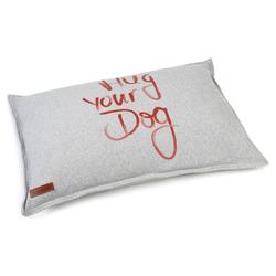 Beeztees Hundekissen Hug Your Dog grau