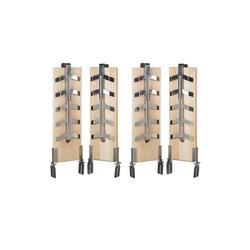 relaxdays Grillguthalter 4 x Flammlachsbretter, Holz