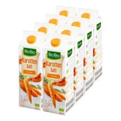 BioBio Karottensaft mit Honig 1 Liter, 8er Pack