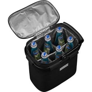 Flaschenträger für 6 Flaschen mit Kühlfunktion - schwarz - Schwarz