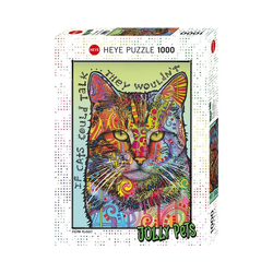 HEYE Puzzle Puzzle If Cats Could Talk, 1000 Teile, Puzzleteile