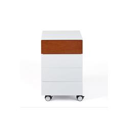 ebuy24 Kommode Scime Kommode Rollcontainer, 4 Schubladen, weiss.