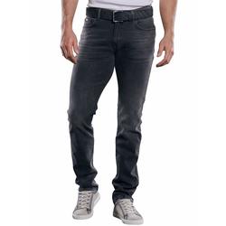 Soft-Touch-Denim Jeans mit rauer Optik Engbers Stahlgrau