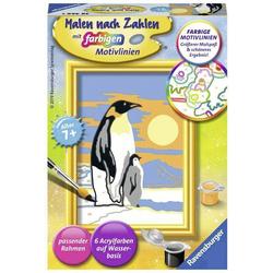 Malen nach Zahlen - Süße Pinguine